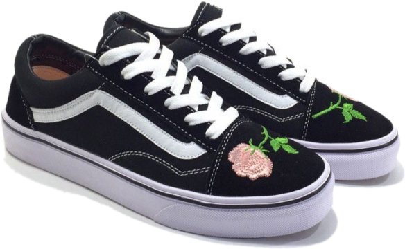 Фото Vans Old Skool (BlackWhitePink) - 1