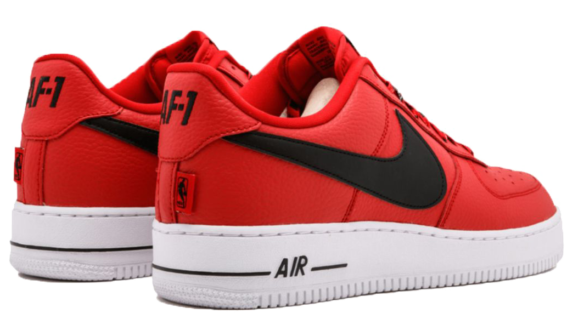 Фото Nike Air Force 1 LV8 NBA красные - 2