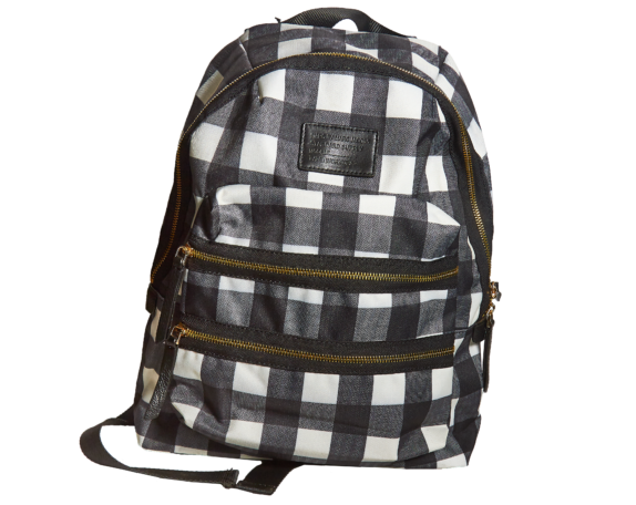 Фото рюкзак в черно белую сетку - 3